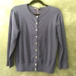 CABLE & GAUGE | Blue Cardigan Star Buttons Size Sm